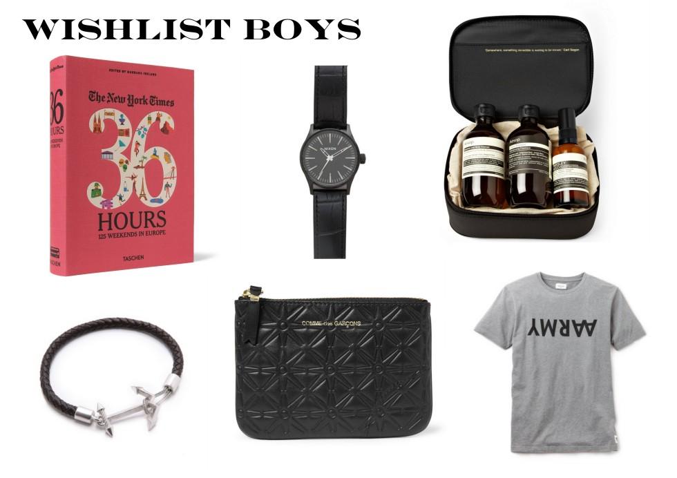 Wunschliste Männer
